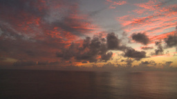 HD2008-8-11-16 ocean sunrise pan Stock Video Footage