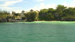 HD2008-8-12-16 cruising on water beach shore Stock Video Footage
