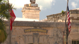 HD2008-8-12-34 Bermuda old fort cooperage Stock Video Footage