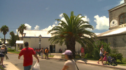 HD2008-8-12-38 Bermuda old buildings tourists traffic Stock Video Footage