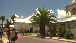 HD2008-8-12-38 Bermuda old buildings tourists traffic Footage