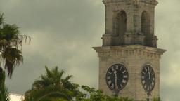 HD2008-8-12-40 Bermuda old clock tower Stock Video Footage