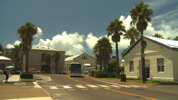 HD2008-8-12-42 Bermuda old town tourists traffic Footage