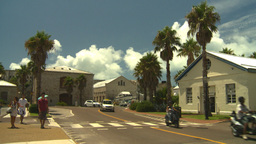 HD2008-8-12-42 Bermuda old town tourists traffic Stock Video Footage