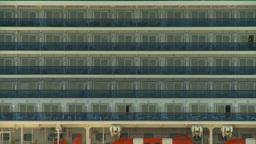 HD2008-8-12-50 cruie ship balconeis Footage