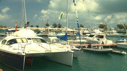 HD2008-8-12-52 Bermuda marina Stock Video Footage