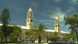HD2008-8-12-56 Bermuda old town traffic clock tower Footage