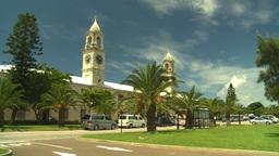 HD2008-8-12-58 Bermuda old town traffic clock tower Footage