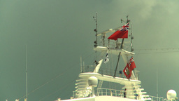 HD2008-8-13-2 ships crowsnest flags Stock Video Footage