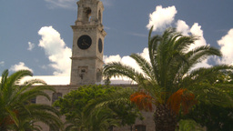HD2008-8-13-6 Bermuda bdg and palms Stock Video Footage