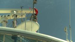 HD2008-8-13-14 cruise ship radar Stock Video Footage