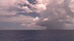 HD2008-8-13-20 TL open ocean passing clouds Stock Video Footage
