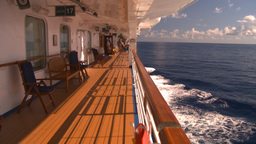 HD2008-8-13-26 cruise ship promenade deck Stock Video Footage