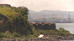 HD2008-8-13-38 San Juan harbor reveal ship Stock Video Footage