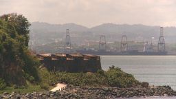 HD2008-8-13-38 San Juan harbor reveal ship Stock Video Footage