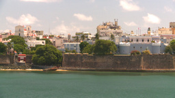 HD2008-8-13-46 San Juan from ocean Stock Video Footage