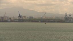 HD2008-8-13-52 San Juan harbor from ocean Stock Video Footage