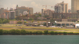 HD2008-8-14-2 San Juan airport from harbor Stock Video Footage
