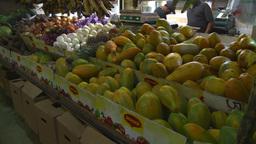 HD2008-8-14-8 San Juan the market fruit veggies Footage