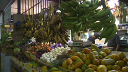 HD2008-8-14-8 San Juan the market fruit veggies Stock Video Footage