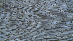 HD2008-8-14-38 San Juan old town traffic cobblestone Z Footage