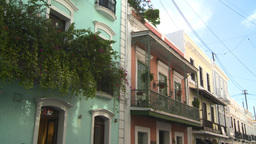 HD2008-8-14-40 San Juan old town buildings Stock Video Footage