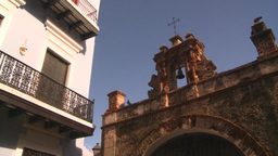 HD2008-8-14-46 San Juan old town cross gate Stock Video Footage