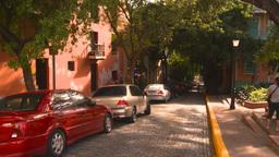 HD2008-8-14-52 San Juan old town buildings Stock Video Footage