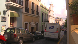 HD2008-8-14-54 San Juan old town buildings US post Stock Video Footage