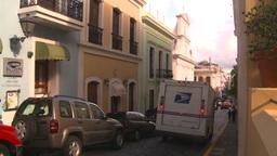 HD2008-8-14-54 San Juan old town buildings US post Stock Video Footage