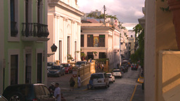 HD2008-8-14-56 San Juan old town buildings Stock Video Footage