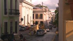 HD2008-8-14-56 San Juan old town buildings Stock Video Footage