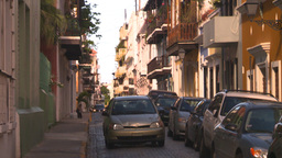 HD2008-8-14-58 San Juan old town buildings Stock Video Footage