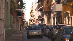 HD2008-8-14-58 San Juan old town buildings Stock Video Footage