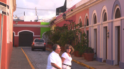 HD2008-8-14-62 San Juan old town buildings Stock Video Footage