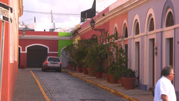 HD2008-8-14-62 San Juan old town buildings Stock Video Footage