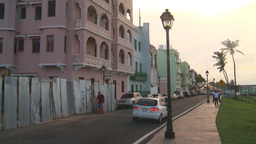 HD2008-8-14-72 San Juan old town buildings traffic Stock Video Footage