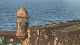 HD2008-8-14-74 San Juan old town fort turret Stock Video Footage