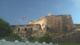 HD2008-8-15-9 San Juan old town fort Stock Video Footage