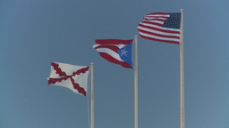 HD2008-8-15-11 San Juan flags Stock Video Footage