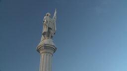 HD2008-8-15-13 San Juan old town statue columbus Stock Video Footage