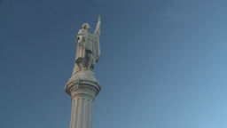 HD2008-8-15-13 San Juan old town statue columbus Stock Video Footage