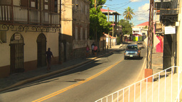 HD2008-8-15-21 StThomas old town traffic Stock Video Footage