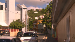 HD2008-8-15-23 StThomas old town traffic Stock Video Footage
