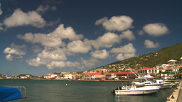 HD2008-8-15-27 StThomas old town harbor Stock Video Footage