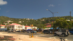 HD2008-8-15-29 StThomas old town traffic Stock Video Footage