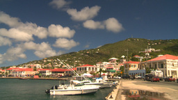 HD2008-8-15-31 StThomas old town hillside Stock Video Footage