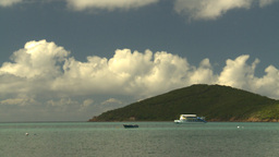 HD2008-8-15-35 StThomas bay boats Stock Video Footage