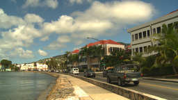 HD2008-8-15-37 StThomas old town traffic Stock Video Footage