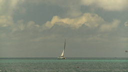 HD2008-8-15-39 StThomas sailboat Stock Video Footage
